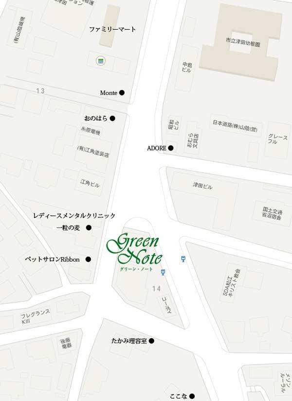 当店近隣の地図です